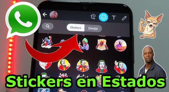 Stickers en estados de Whatsapp