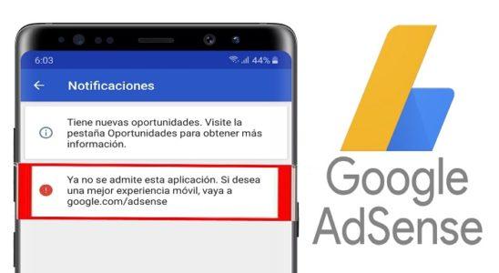 🥇 Adsense elimino su app de iOS y Android este MARZO 2020