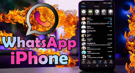 WHATSAPP iPHONE para ANDROID!! WhatsApp con un DISEÑO UNICO