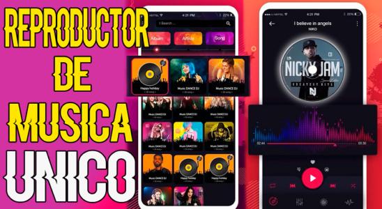 REPRODUCTOR DE MUSICA para ANDROID con DISEÑO UNICO